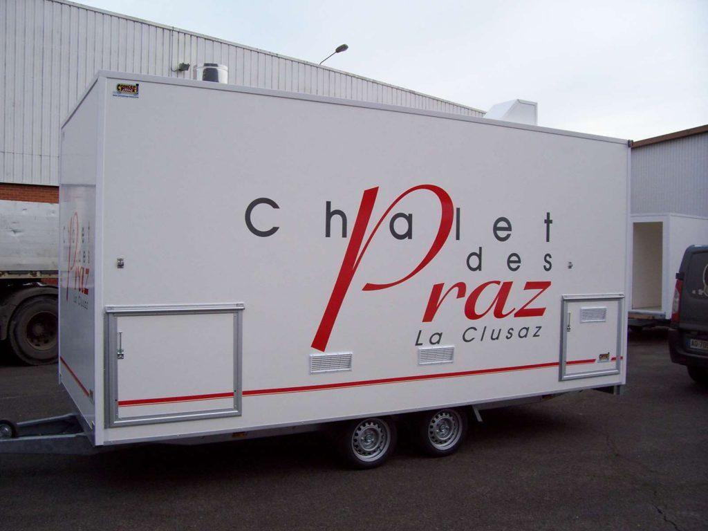 Réalisation remorque pizza XL