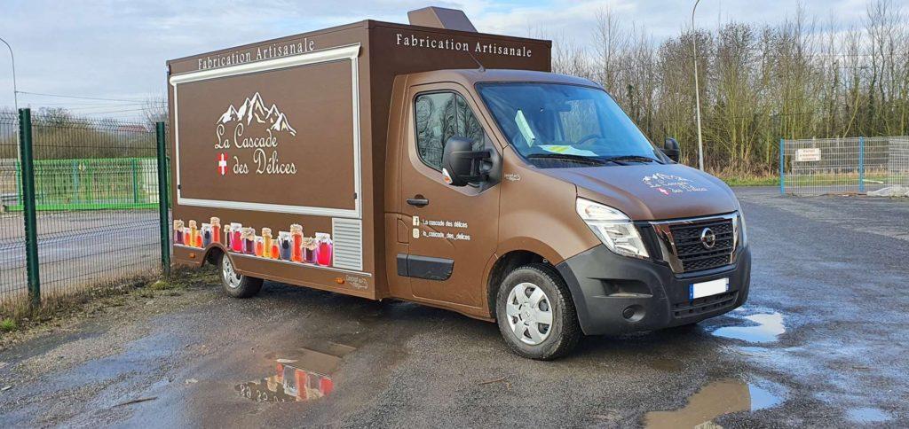 Réalisation food truck L produits artisanaux